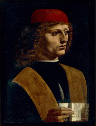 10. Léonard de Vinci, Portrait de jeune homme tenant une partition, dit Le Musicien © Veneranda Biblioteca Ambrosiana