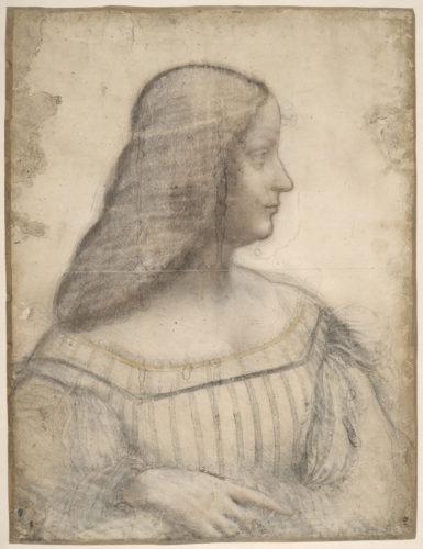 14. Léonard de Vinci, Portrait d'Isabelle d'Este © RMN-Grand Palais (musée du Louvre) / Michel Urtado