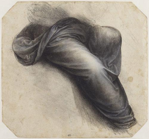 18. Léonard de Vinci, Étude pour la Sainte Anne : le manteau de la Vierge © RMN-Grand Palais (musée du Louvre) / Michel Urtado