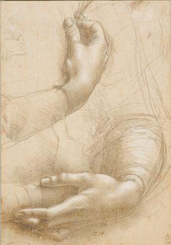 11. Léonard de Vinci, Étude de mains. Royal Collection Trust / © Her Majesty Queen Elizabeth II 2019