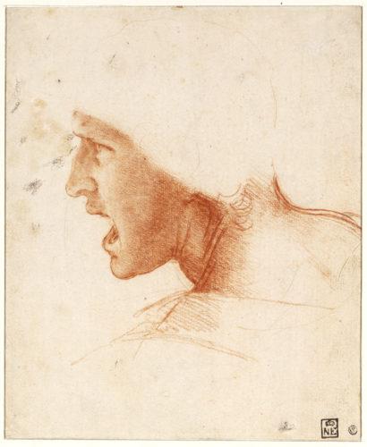 15. Léonard de Vinci, Étude de figure pour la Bataille d'Anghiari © Szépművészeti Múzeum - Museum of Fine Arts Budapest, 2019