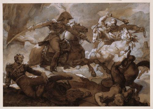 3. Théodore Géricault (1791-1824), Le Prince vice-roi sauvant un officier fait prisonnier par les cosaques, Paris, musée du Louvre © RMN-Grand Palais (musée du Louvre) / Jean-Gilles Berizzi.