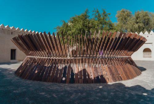 18-Moataz Nasr, Sun Boat, installation view at Al Jahili Fort, Al Ain, 2018  © Courtesy the artist and GALLERIA CONTINUA, San Gimignano / Beijing / Les Moulins / Habana-jpg