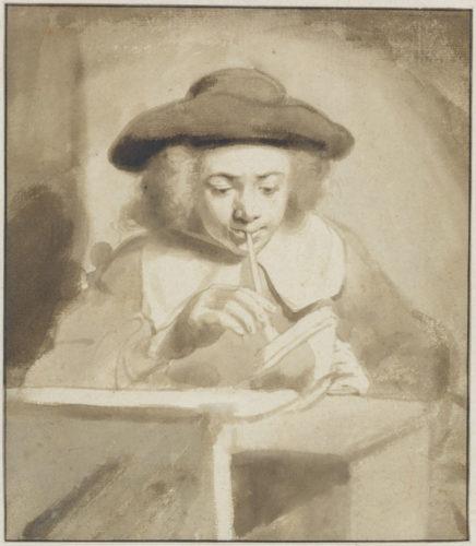10. Gerbrandt van den Eeckhout (1621-1674), Un jeune homme fumant, Paris, musée du Louvre © Fondation Custodia, Collection Frits Lugt, Paris.
