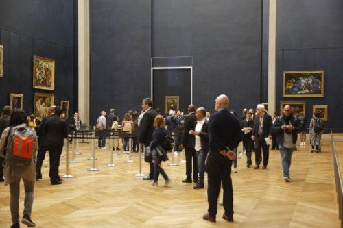 Leonardo da Vinci's Mona Lisa in the renovated Salle des États © Musée Louvre, 2019 / Antoine Mongodin