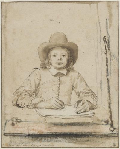 9. Samuel van Hoogstraten (1627-1678), Autoportrait à la fenêtre, Paris, musée du Louvre © Fondation Custodia, Collection Frits Lugt, Paris.