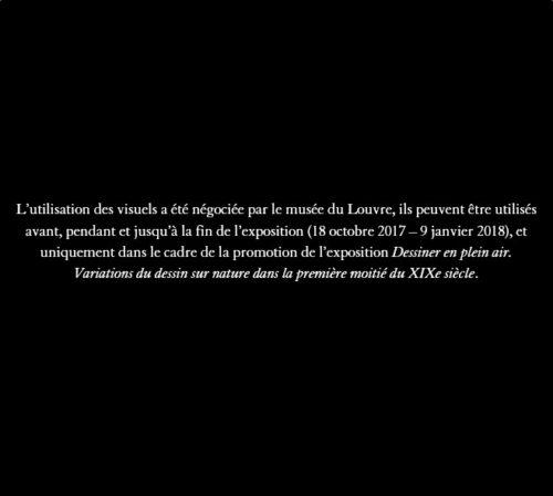 8_Narcisse Diaz de la Peña, Paysage, crayon noir et aquarelle sur papier vélin, page d'album
