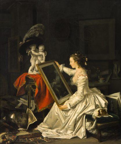 Marguerite Gérard avec la collaboration de Jean- Honoré Fragonard, L'Élève intéressante, vers 1786, huile sur toile, H. 65, L. 49 cm © Sotheby's / ArtDigital Studio-jpg