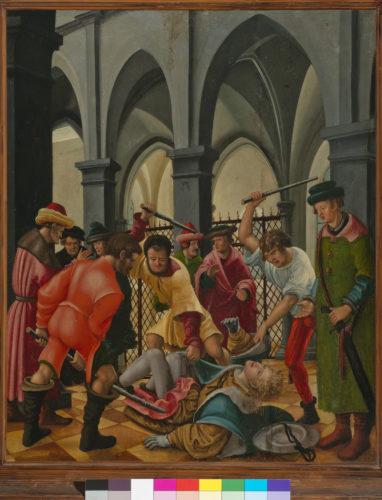 17- Albrecht Altdorfer, Saint Florian roué de coups © Prague, National Gallery 2019-jpg