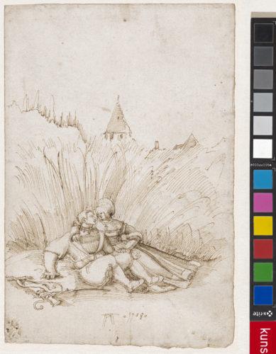 4- Albrecht Altdorfer, Couple d'amants dans un champ de blé © Kunstmuseum Basel, Martin P- Bhler-jpg