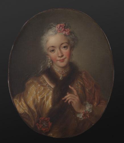 Charles Antoine Coypel 1694-1752- Portrait dune actrice dite la Manzanelli- Don de Marc Fumaroli  Musee du Louvre dist- RMN – Grand Palais  Harry Brejat-jpg