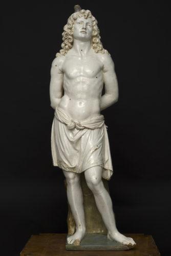 18- Andrea della Robbia 1435  1525 et Luca della Robbia le Jeune 1475  1548- Saint Sebastien- Montalcino Musee municipal et diocesain dArt sacre  Marco Brancatelli-jpg