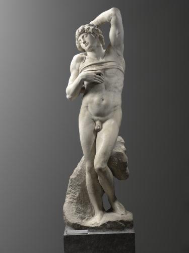 25- Michelangelo Buonarroti- Lesclave mourantParis musee du Louvre depart- des Sculptures Musee du Louvre  Musee du Louvredist RMN Grand Palais  Raphael Chipault-jpg