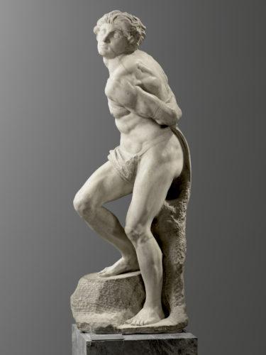 26- Michelangelo Buonarroti- Lesclave rebelleParis musee du Louvre depart- des Sculptures Musee du Louvre  Musee du Louvredist RMN Grand Palais  Raphael Chipault-jpg