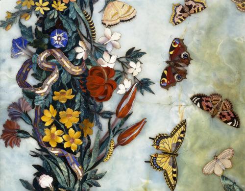 Detail plateau Fleurs et papillons (c) RMNGP Daniel Arnaudet