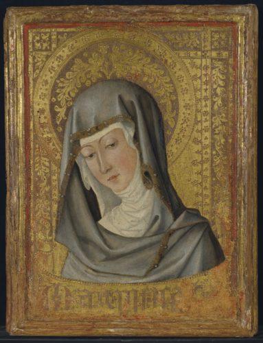 Vierge en buste Peintre valencien, vers 1450 (c) CHRISTIES -jpg