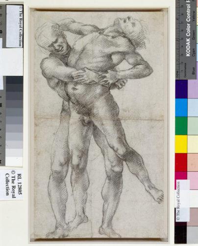 5- Luca Signorelli vers 1450  1523- Hercule et Antee- Chateau de WindsorBibliotheque royale Royal Collection Trust Her Majesty Queen Elizabeth II 2020-jpg