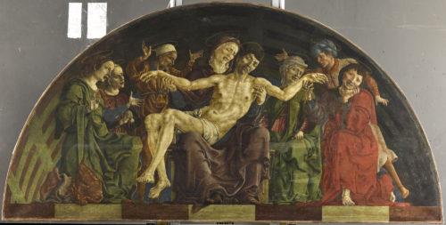 12- Cosme Tura- Pieta- Vers 1480-1495- Paris Dept des Peintures musee du Louvre departement des Peintures  RMN Grand Palais- Musee du Louvre  Benoit Touchard-jpg