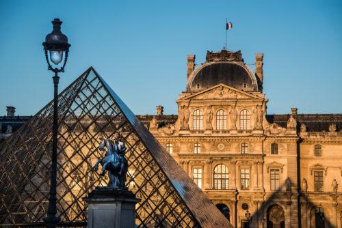 Palais du Louvre, cour Napoléon