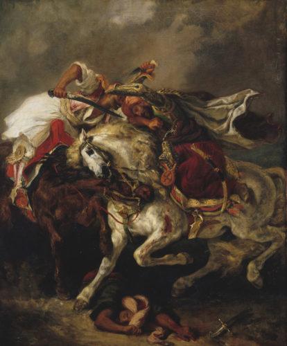 Eugene Delacroix Le combat du Giaour et du Pacha-jpg