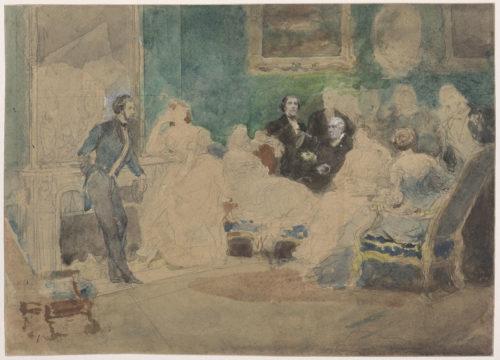 Eugène Lami, Un Salon parisien (c)  RMN-Grand Palais (musée du Louvre) / Tony Querrec -jpg